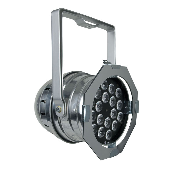 Showtec LED Par 64 silver, 18x 3W