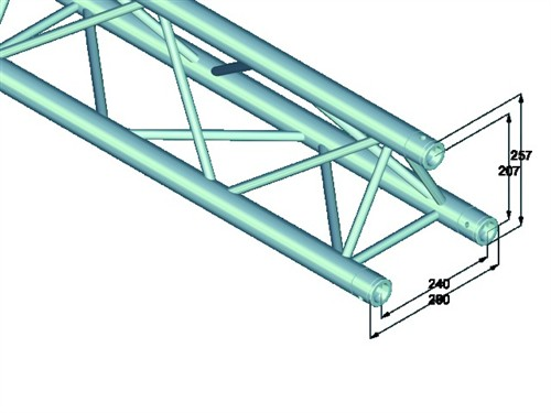 Trilock E-GL33 500 3-way cross beam