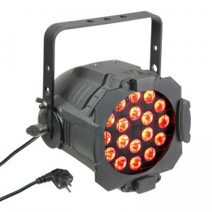 Cameo Studio PAR 64 CAN 18x 3W Tri Colour LED RGB Black